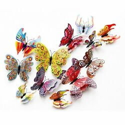 Kyпить 12 Pcs 3D Butterfly Wall Stickers PVC Children Room Decal Home Decoration Decor на еВаy.соm