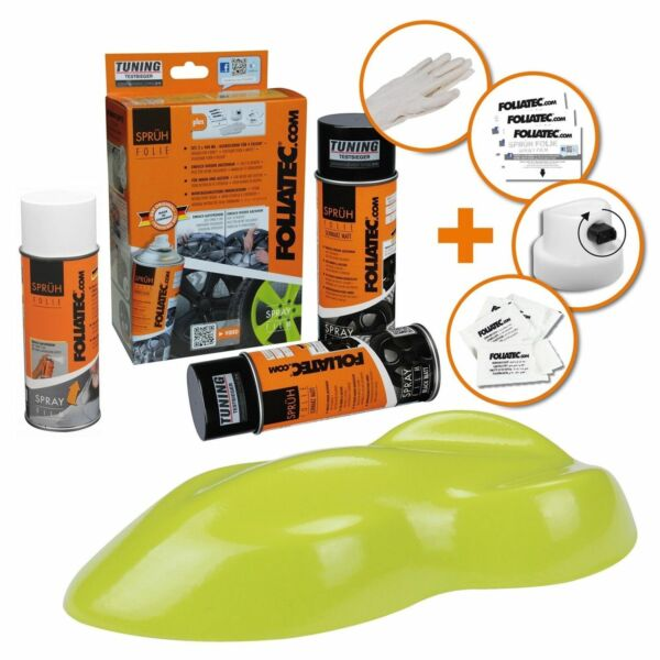 Hambach,FrancePEINTURE JANTE TOXIC VERT GREEN KIT SPRAY ELASTIQUE PLASTIFIANT  FT2300