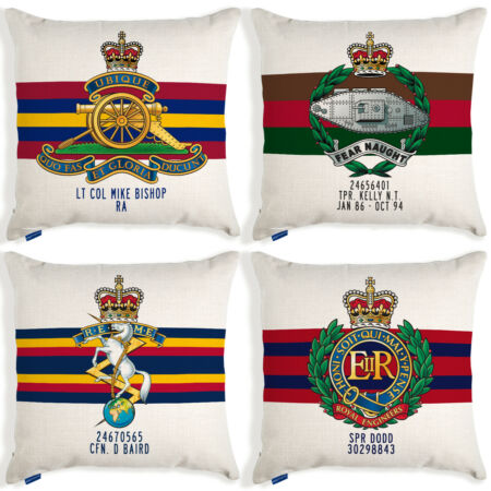img-British Army Cushion Cover Military Birthday Gift Grandad Personalised Official