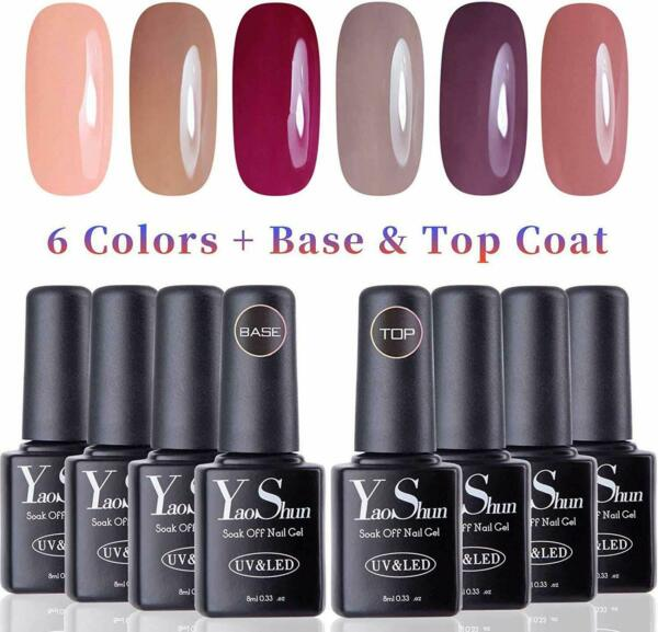 Vernis Gel Semi Permanent Vernis A Ongles Gel Soak 6 Couleurs Top Et Base Coat
