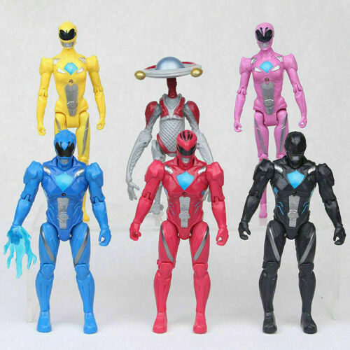 6pcs PowerxRangers Action Figures Set: Black Red Blue Pink Yellow Party Gift Toy
