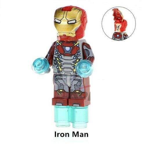 Iron Man Mask Avengers - Minifigures Compatibile LEGO - Nuovo in Blister