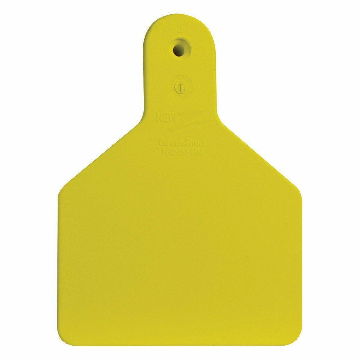 Z-TAG FEEDLOT ONE PIECE Cattle//Cow Blank Ear Tags WHITE 50 Count