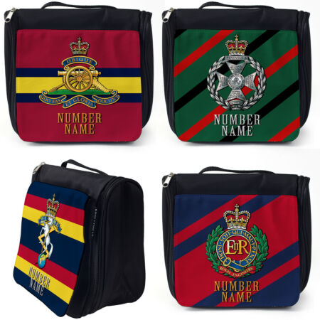 img-Personalised Military Wash Bag Hanging Toiletry Travel Gym Veteran Official Gift