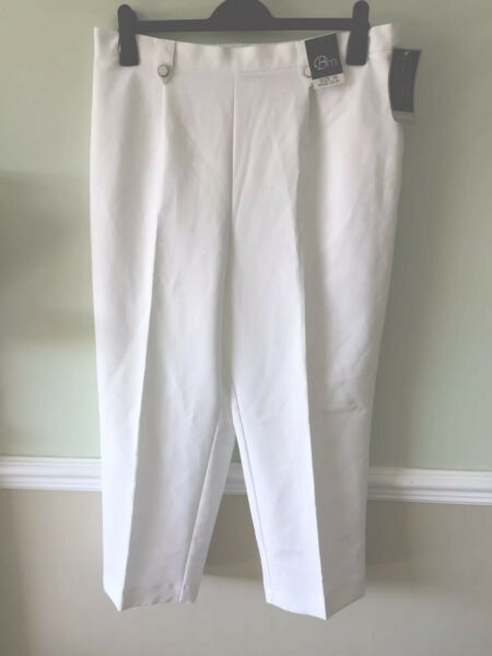 White Classic Trousers 16- Clearance!!
