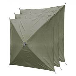 CLAM Quick-Set Screen Hub Tent Wind & Sun Panels, Accessory Only, Green (3 pack)