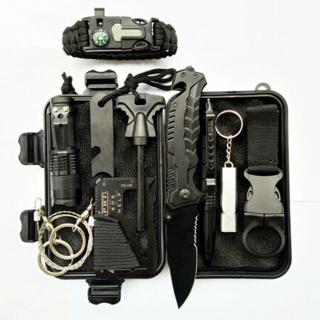 img-Outdoor Emergency Survival Gear Kit Camping Tactical Tools 10 In 1 SOS Case