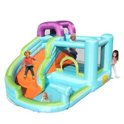 Kyпить Safety Water Spray Inflatable Bounce House Kids Jump Castle Slide with Blower на еВаy.соm
