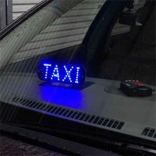 Auto Blue 45 LED Cab Taxi Roof Sign Light 12V Vehical Inside Windscreen Lamp %LO