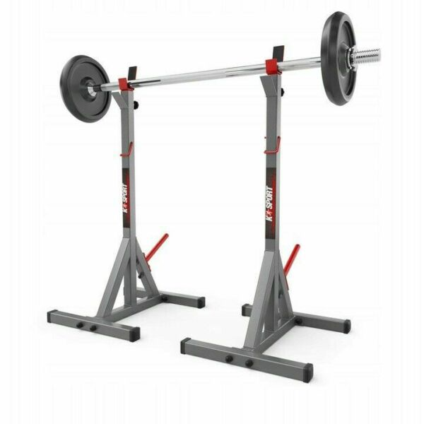 Squat Rack Power Stands Barbell Adjustable Press Weight Home GYm