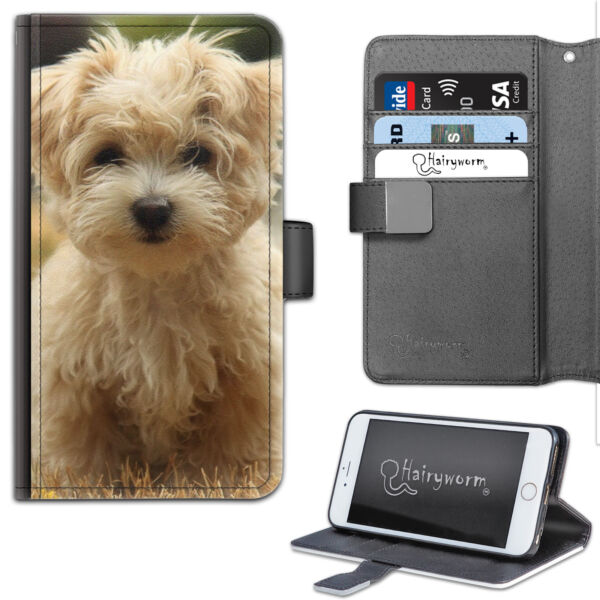 Royaume-UniHAIRYWORM YELLOW HAIRY DOG DELUXE  WALLET PHONE CASE, FLIP CASE, COVER
