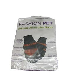 Extreme All Weather Dog Boots Red & Black Dog Warm Puppy Fashion Pet NEW