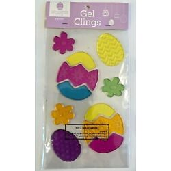 Happy Easter Easter Egg Window Gel Sticker Cling Decorations classroom decor