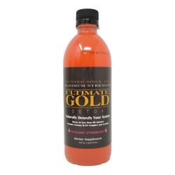 New! 'STRAWBERRY' Flavored ULTIMATE GOLD DETOX DRINK 16OZ - Works in One Hour
