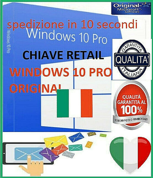 Windows 10 pro✔️ professionale✔️Licenza✔️originale✔️spedizione in 10 secondi