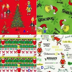Kyпить BTHY Holiday Seuss How The Grinch Stole Christmas Cotton Fabric By The Half Yard на еВаy.соm