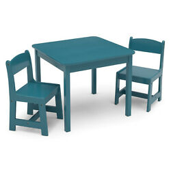 Kyпить Delta Children MySize Wooden Kids Craft Table and Chairs Set for Toddlers, Teal на еВаy.соm