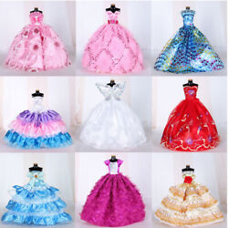 Kyпить 9Pcs Doll Wedding Party Dress Princess Clothes Handmade Outfit for 12in Dolls на еВаy.соm