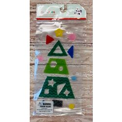 Merry Christmas Tree Window Gel Clings Classroom Supply Decor Shapes Holiday
