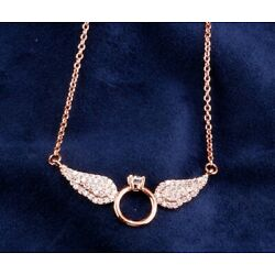 Kyпить ANGEL RING NECKLACE, made of pure gold на еВаy.соm