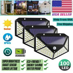 Kyпить 100 LED PIR Motion Sensor Wall Light Solar Power Waterproof Outdoor Garden Lamp на еВаy.соm