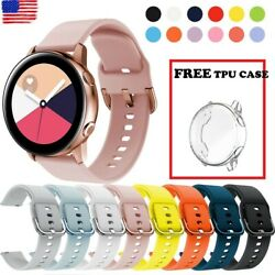 Kyпить Samsung Galaxy Watch Active 2 40/42/44mm Silicone Sport Band FREE Tpu Case Cover на еВаy.соm
