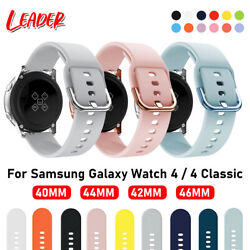 Kyпить For Samsung Galaxy Watch 3 41mm Active 2 40 42 44mm Silicone Sport Band Strap на еВаy.соm