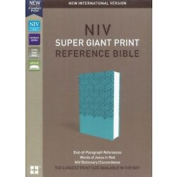 NIV Super Giant Print Ref. Bible soft leather look Teal BRAND NEW in Shrink Wrap