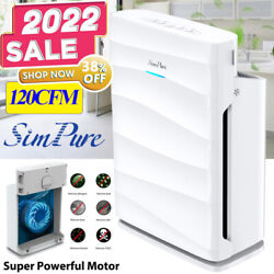1500Sqft Air Purifier w/Washable Filters 120CFM Large Room Cleaner 5-Stage Hepa
