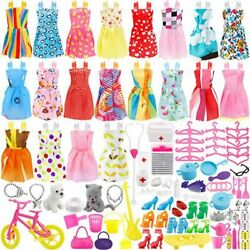 Kyпить 133 Pcs Doll Clothes Party Dress Shoes Bags Necklace Toy Accessory Set Xmas Gift на еВаy.соm