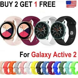 For Samsung Galaxy Watch 3 45mm Active 2 40 44mm Watch Band Silicone Sport Strap