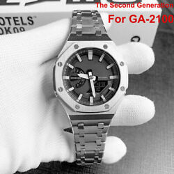 Kyпить Stainless Metal GA-2100 Second Generation For G Shock Band Bezel Case Watchband на еВаy.соm