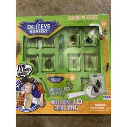 Dr. Steve Hunters My Insects Collection 10 Real Insects Educational Toy Kit New