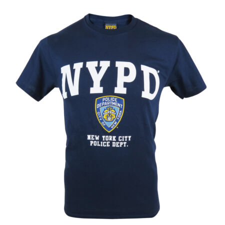img-Officially Licensed NYPD Printed T-Shirt. New York Police Hologram Tag UK Seller