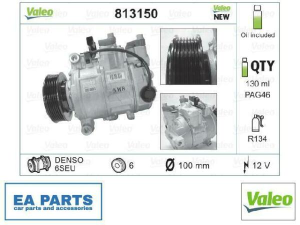 LituanieCompressor, air conditioning for AUDI SEAT VALEO 813150
