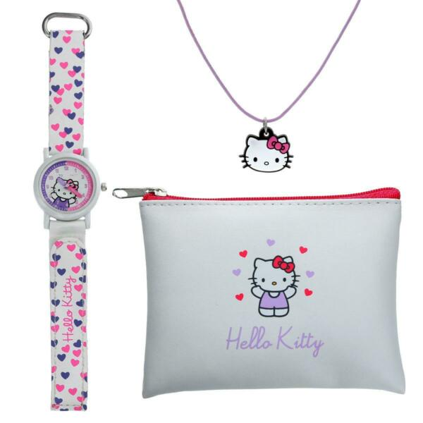 Royaume-UniTikkers Hello Kitty Temps Professeur Montre,  & Porte-Monnaie Ensemble