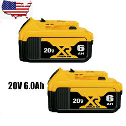 Kyпить 2 Pack 20V For DeWalt DCB206-2 20 Volt Max XR 6.0AH Lithium Battery DCB205-2 US на еВаy.соm