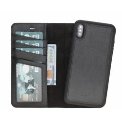 Carson Magnetic Detachable Leather Wallet Case For Apple iPhone XS Max