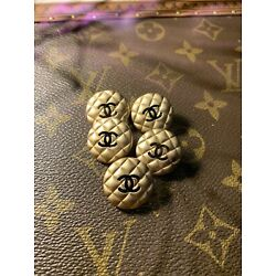 Kyпить Chanel Quilted Gold & Black Buttons Unstamped Pk5 на еВаy.соm