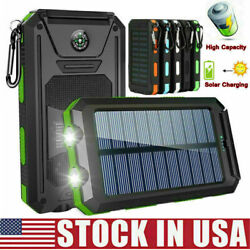 Kyпить 2000000mAh Solar Power Bank LED Dual USB Backup Battery Charger Fr Mobile Phone на еВаy.соm