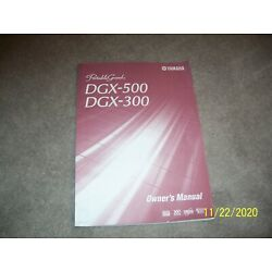 Kyпить Yamaha Portable Grand DGX-500 DGX-300 Owner's Manual (2002) на еВаy.соm