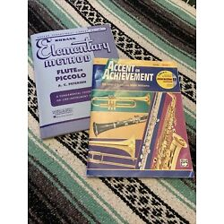 Kyпить Beginner Flute Books Set of 2 Rubank Elementary Method & Accent on Achievement на еВаy.соm
