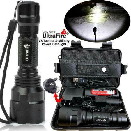 img-Tactical Military 150000LM CREE XML T6 LED Flashlight Torch Work Light Headlamps
