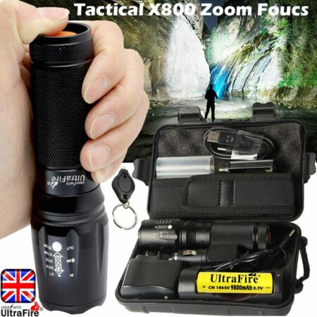 img-Ultrafire XML 250000LM Flashlight T6 LED Tactical Military Torch Headlamps Camp
