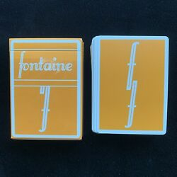 Kyпить *New* Fontaine Pumpkin Playing Cards -  First Edition *Fontaine Fall Collection* на еВаy.соm