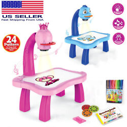 Children Smart Learn Painting Drawing Table Kids Music LED Projector Desk toy