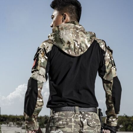 img-Hoodie Tactical T-Shirt Mens Combat Shirts Army Military Gen3 Force Swat Casual