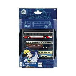 Kyпить Disney Parks Die-Cast Transport Buses Bus Set of 3 Magical Express Cruise - NEW на еВаy.соm