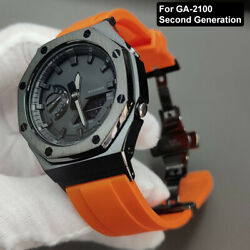 Kyпить For GA-2100 2110 Watch Strap+Case Adapter Metal 2rd Bezel Rubber Watch Band Tool на еВаy.соm