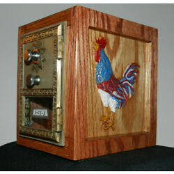 Kyпить Vintage Post Office Door (1964) Bank (Red, White & Blue Rooster / Farmhouse) на еВаy.соm